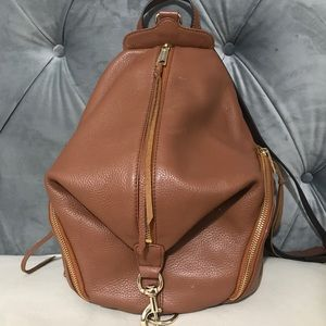 Rebecca Minkoff Almond Brown Leather Backpack